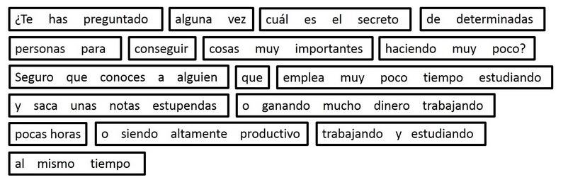 grupos de palabras