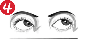Movimientos oculares en circulo