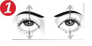 Movimientos oculares - De arriba abajo